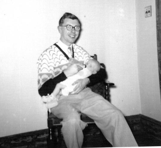Dad & Lynnie 3 months