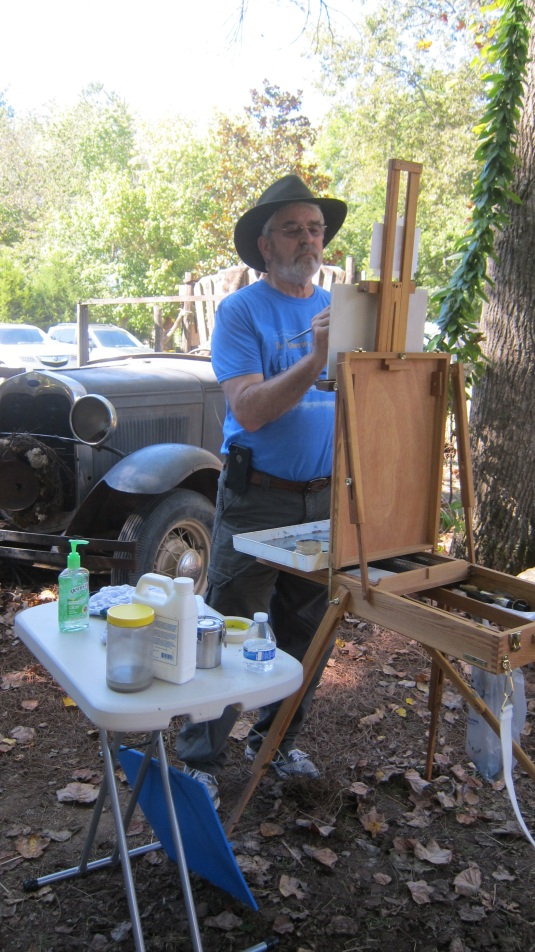 Jerry at easel